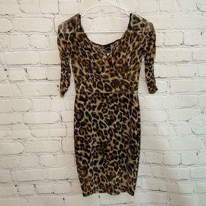 Libian Leopard Print Spandex Mini Dress